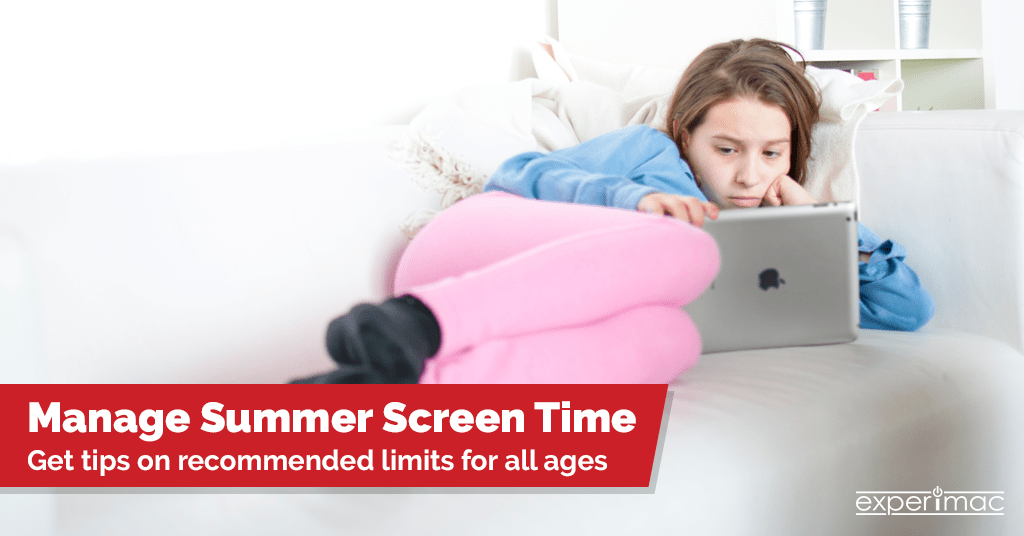 Need to Manage Screen Time for Your Kids? Experimac Has Tips Based on the Child's Age